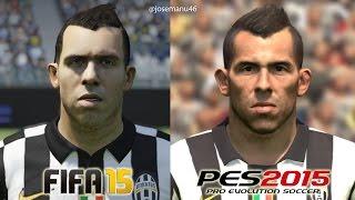 FIFA 15 vs PES 2015 JUVENTUS Face Comparison