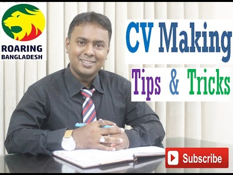 CV Making Tips and Tricks