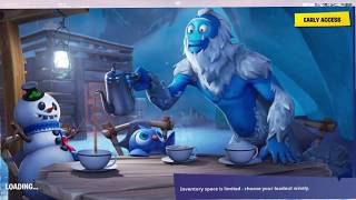 Find the secret Battle Star in Loading Screen #5 Fortnite Snowfall Challenges