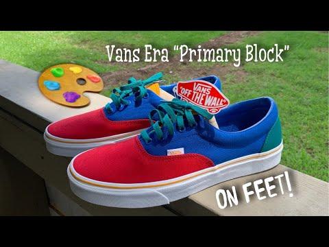 VANS ERA PRIMARY BLOCK REVIEW \u0026 ON FEET