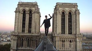 Freerun - Simon Nogueira sur les toits de Notre-Dame