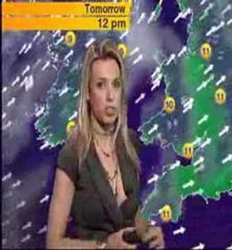 Channel 5 weathergirl Lara Lewington