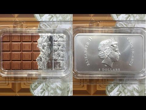 chocolate 5$ pure 1oz silver bar