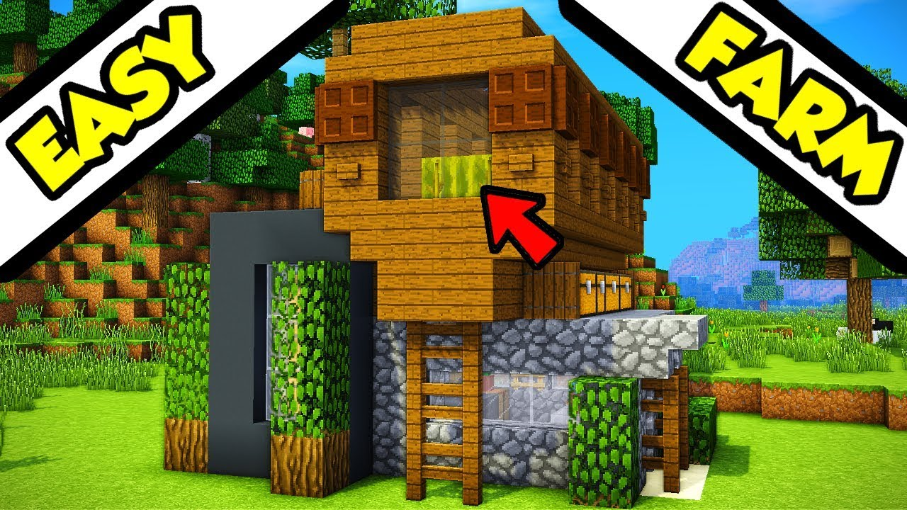 Minecraft Farm Top Modern House Tutorial  How To Build