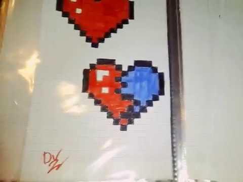Comment Dessiner Un Cœur Brise En Pixel Youtube