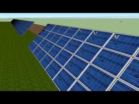 1MW solar project animation