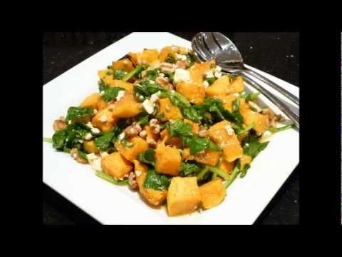 Healthy Pumpkin & Spinach Salad Recipe From Loretta's Kitchen