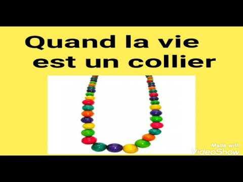 la vie est un collier de perles