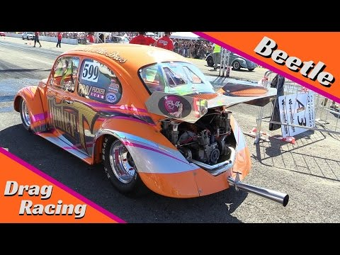 VW Beetle Drag Racing - Pure Sound!