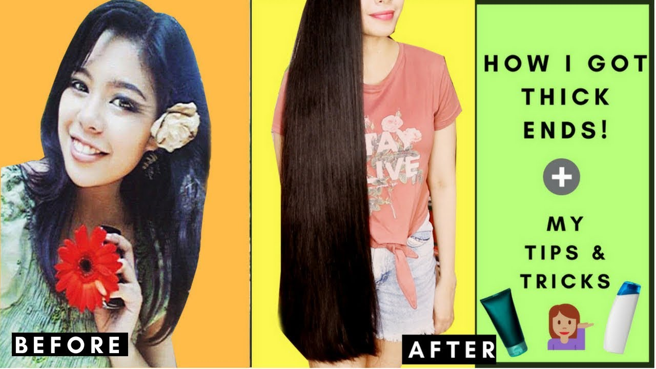 How To Get Thicker Hair Tips From Having Thin Ends To Having Thick Ends Beautyklove Youtube