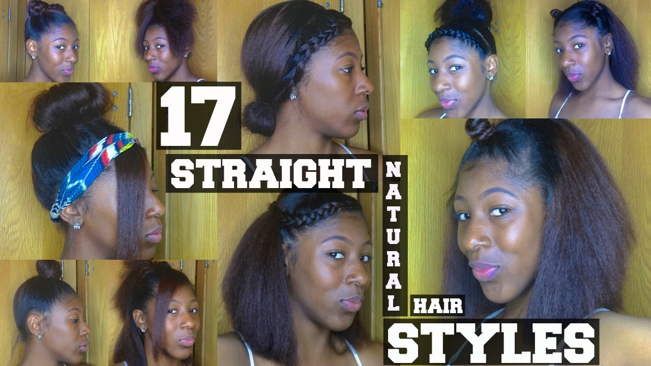 17 Natural Hairstyles For Short Naural Hair Youtube