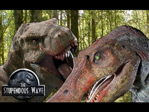 trex vs spinosaurus teased by colin trevorrow for