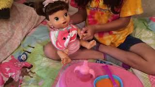 Feeding my Baby Alive Doll