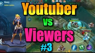 Mobile Legends - FIRST Time FANNY Gameplay!! Youtuber vs Viewers Games #3 !!