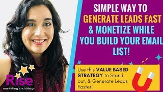 SIMPLE Lead 'MONETIZATION' Strategy: Make 'SALES' While You Build Your Email List!