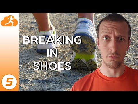How do you break in new running shoes?