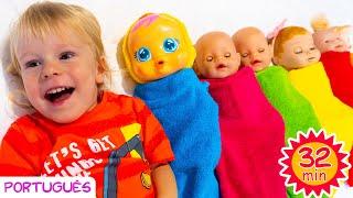 Dez na cama e outras canções infantis por Sunny Kids Songs em Português