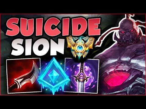 DIE, REVIVE, KILL EVERYONE! SUICIDE SION CHALLENGER BUILD IS 100% LETHAL! SION TOP League of Legends