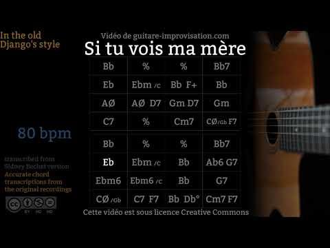 Si Tu Vois Ma Mère (80 bpm) - Gypsy jazz Backing track / Jazz manouche