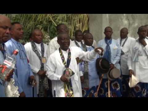 Obong of Calabar, Edidem Ekpo Okon Abasi Otu V Arrival at Nyoro Ekpe