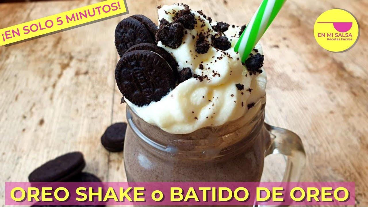OREO SHAKE o BATIDO DE OREO 🍧 Date un capricho FRESQUITO y DELICIOSO ¡EN 5 MINUTOS!😋
