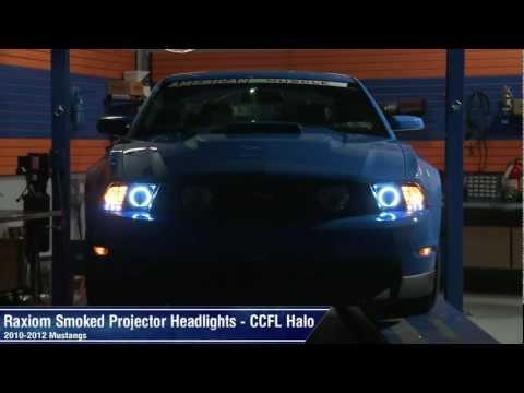 Mustang Raxiom Smoked Projector Headlights - CCFL Halo (10 ...