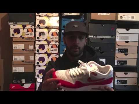 0a04820e86 Nike air max 1 flyknit review OG colourway and on feet look - YouTube