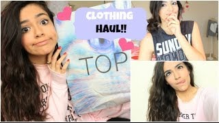Clothing Haul: F21, Topshop, Aero, Love Culture