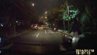 140118辛亥隧道往基隆路方向機車車禍