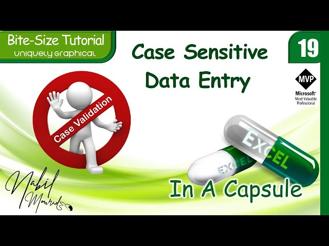 Sorry ...It is Case Sensitive - Custom Data Validation In Excel