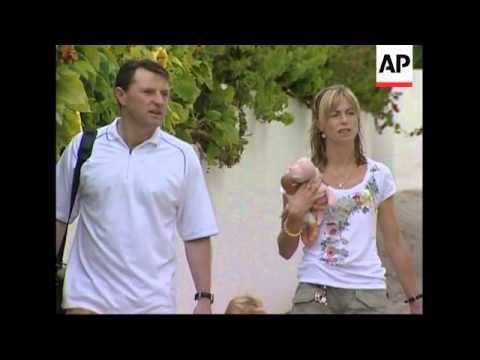 McCann's leaving house, taking their children to nursery