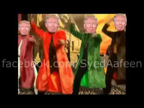 Trump sings tunak tunak tun