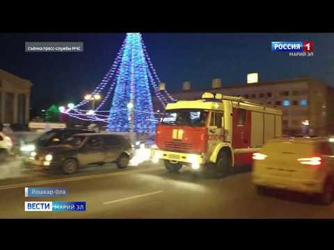 В Йошкар-Оле сгорел пассажирский автобус