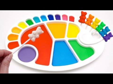 Thumbnail: Dye Coloring Play Doh Gummy Teddy Bears | Finger Family Learn Color Crayola Play Doh Molds