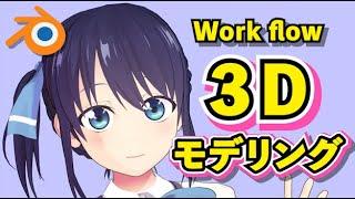 【Blender 2.93】カノジョも彼女 水瀬渚 3Dモデリング【Timelapse】