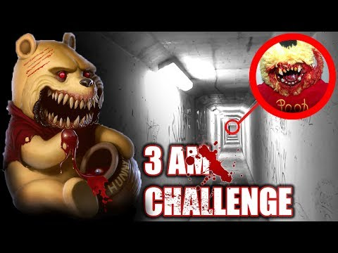 3 AM OVERNIGHT CHALLENGE IN HAUNTED TUNNEL || ONE MAN HIDE AND SEEK WITH POSSESSED WINNIE THE POOH!!