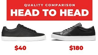 Sneaker Quality Comparison - Low vs. High Quality