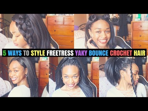 5 Straight Hairstyles// Freetress Yaky Bounce Pre-loop Crochet Hair