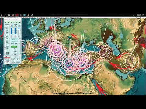 3/13/2018 -- West Coast USA California Earthquake Swarms -- Volcanoes and drill points