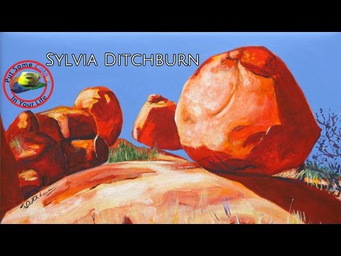 Fine Art Tips on How to Paint Plein Air Acrylics with Sylvia Ditchburn on Colour In Your Life