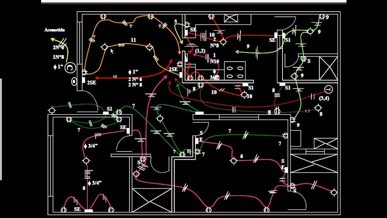 Planos de instalaciones electricas residenciales paolo for Plano instalacion electrica