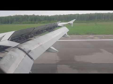 Посадка в Домодедово / Landing At Moscow A319 S7 Airlines