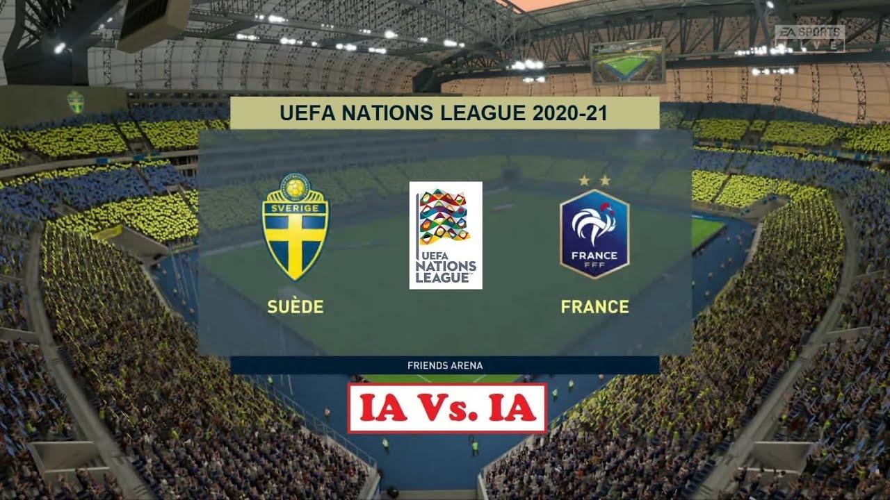 Suede France Fifa 20 Uefa Nations League 2020 21 Journee 1 6 Ligue A Ia Vs Ia Youtube