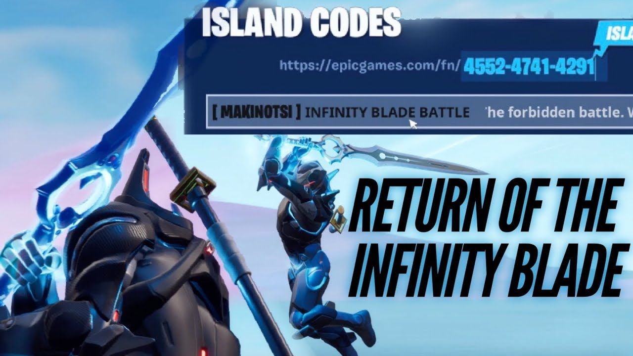 Infinity Blade Island Code in Fortnite Creative | How to ...