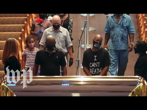 WATCH: Mourners pay respects at the George Floyd viewing in Houston