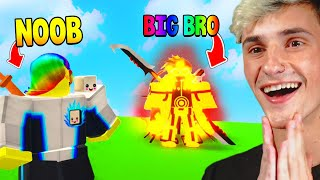 My Brother was the #1 PLAYER and gave me OP ITEMS.. (Roblox)