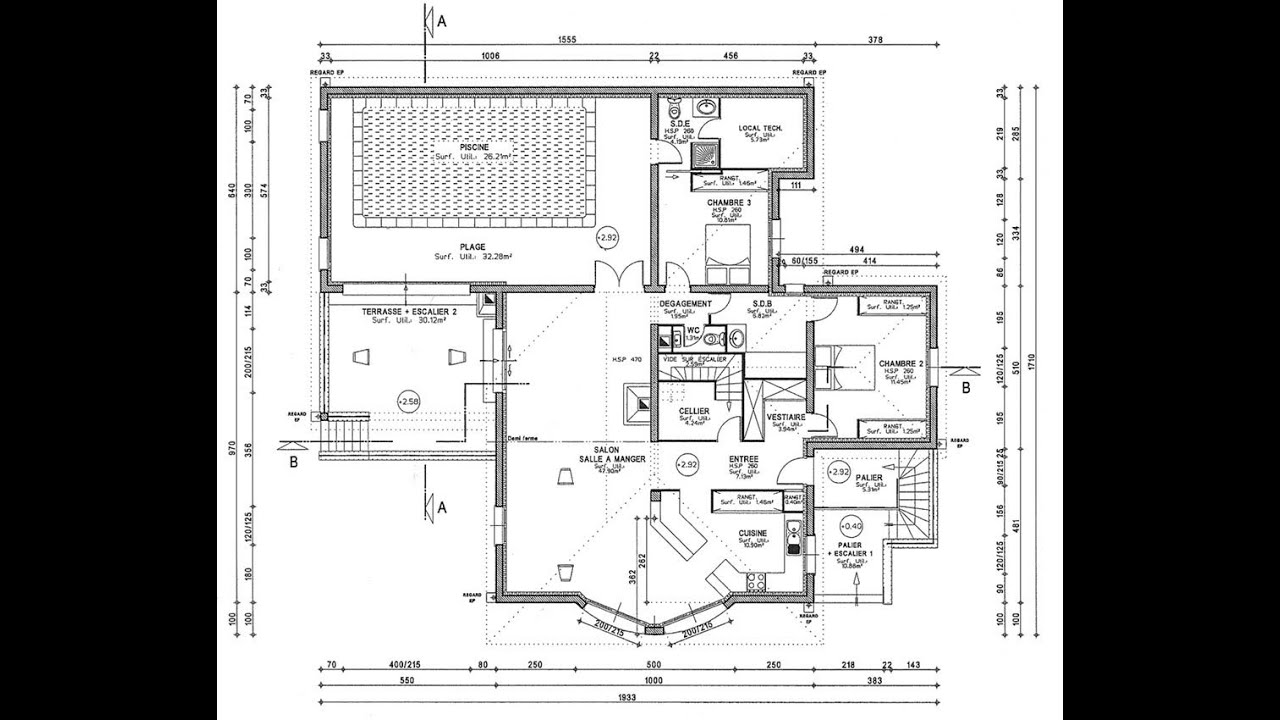 Plan d 39 architecture d 39 un maison for Plan d architecte maison