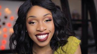 Maquillage peau noire | Makup Lipstick foncées | Routine