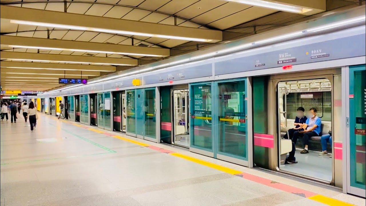 서울지하철 8호선 잠실역 진입,발차 / Seoul Line8. Jamsil station