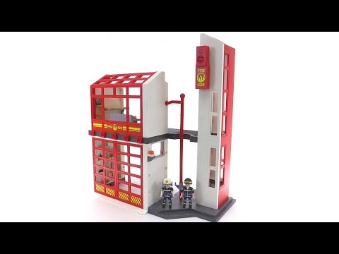 Playmobil Fire Station 5361 Review 6385 Extension Youtube